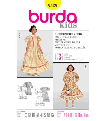 Burda Πατρόν Φόρεμα Εποχής 9529 0b53d39bbff