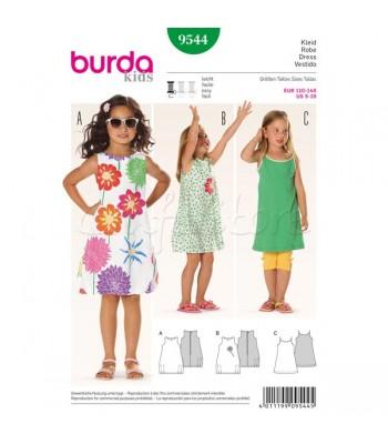 1d5d15633bc Burda Πατρόν Παιδικά Φορέματα 9544