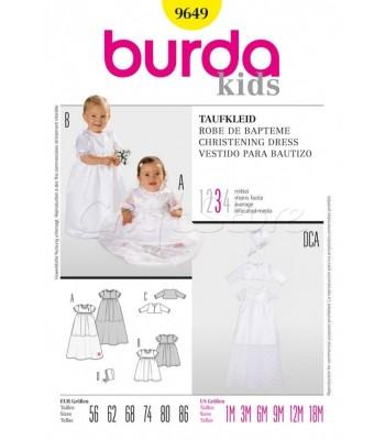 Burda Πατρόν Βαφτιστικά Φορέματα 9649 78c05d37ef2