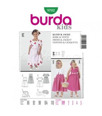 ca41d24232f Burda Πατρόν Παιδικά Φορέματα και Ζακετάκια 9702