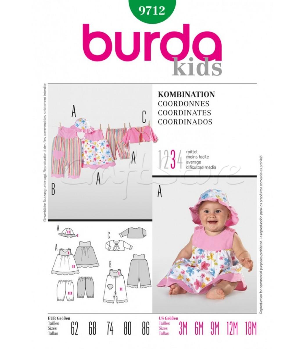 Burda Πατρόν Βρεφικά Ρούχα 9712  d56dfce0f0d