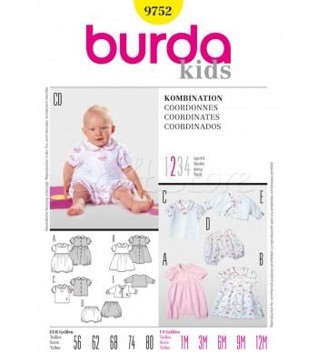 Burda Πατρόν Βρεφικά Ρούχα 9752 68d84fe69cc