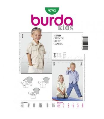 c28691078ee Burda Πατρόν Παιδικά Πουκάμισα 9792