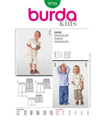 8f59c053f06 Burda Πατρόν Παιδικά Παντελόνια 9793