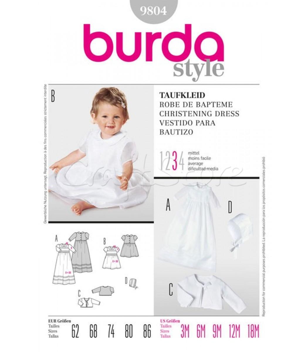 091fc348dea Burda Πατρόν Βαφτιστικά Φορέματα 9804 | Ραπτική | Burda