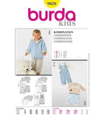 2505ce5532a Burda Πατρόν Παιδικά Ρούχα 9828