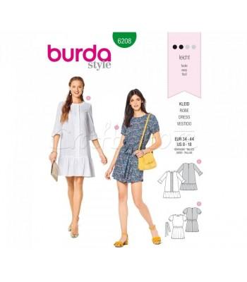Burda Πατρόν Φορέματα 6208