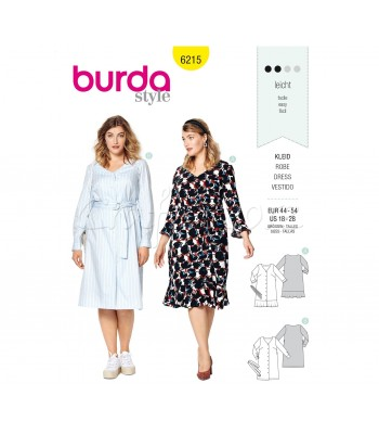 Burda Πατρόν Φορέματα 6215