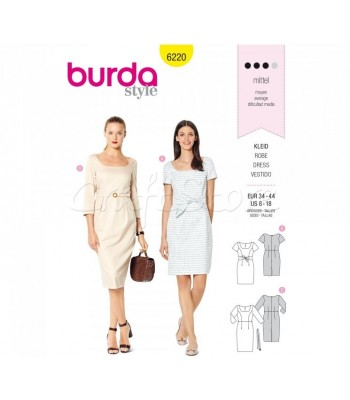 Burda Πατρόν Φορέματα 6220