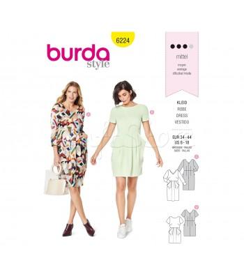 Burda Πατρόν Φορέματα 6224