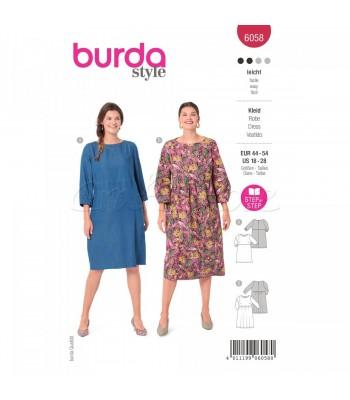 Burda Πατρον  φόρεμα 6058