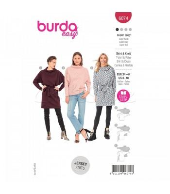 Burda Πατρον  φόρεμα 6074