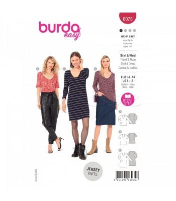 Burda Πατρον  φόρεμα 6075