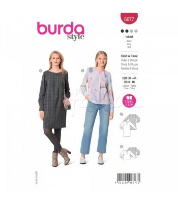 Burda Πατρον  φόρεμα 6077