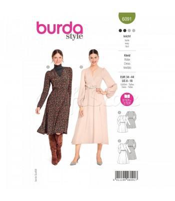 Burda Πατρον  φόρεμα 6091