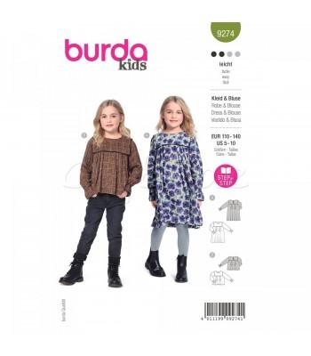 Burda Πατρόν Κοριτσίστικα Ρούχα 9274