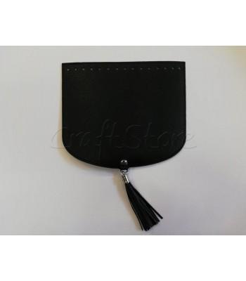 Καπάκι Ημικύκλιο 22Χ19cm με μαγνητικό κούμπωμα και φουντάκι Μαύρο