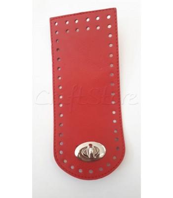 Γλωσσάκι Κόκκινο 20x8 cm  με Στριφτό Κούμπωμα Νίκελ