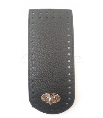 Γλωσσάκι Μαύρο 20x8 cm  με Στριφτό Κούμπωμα Νίκελ
