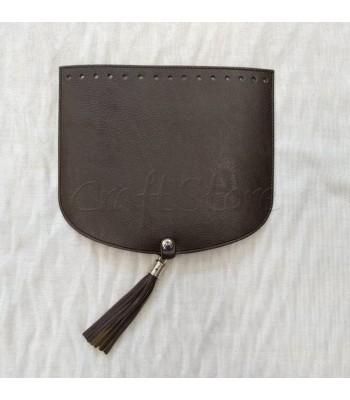 Καπάκι Ημικύκλιο 22Χ19cm με μαγνητικό κούμπωμα και φουντάκι Καφέ