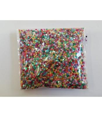 Παγιέτα Αστεράκια 3mm 50γρ. Multicolor
