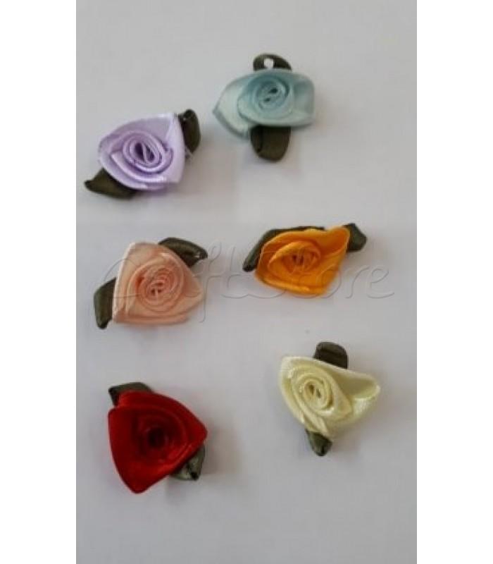 Multi Flower Υφασμάτινα Τριαντάφυλλα 20mm X 28mm/6 τμχ