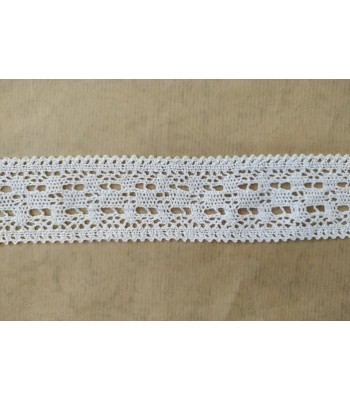 Δαντέλα Βαμβακερή 4.5cm Λευκό/ μέτρο