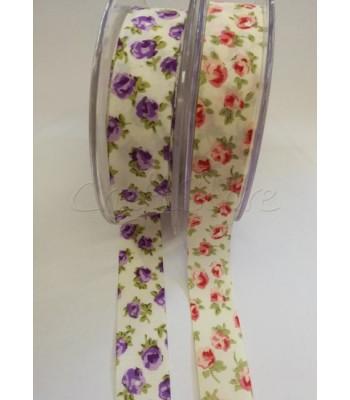 Κορδέλα Υφασμάτινη Floral 2.3 cm  (ανά μέτρο)