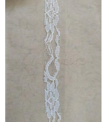 Κορδέλα Δαντέλα 2.5cm Λευκό/ μέτρο