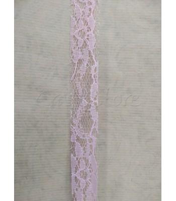 Κορδέλα Δαντέλα 2.5cm Ροζ/ μέτρο