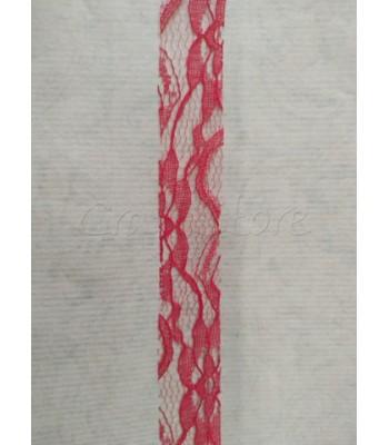 Κορδέλα Δαντέλα 2.5cm Κόκκινο/ μέτρο