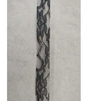 Κορδέλα Δαντέλα 2.5cm Μαύρο/ μέτρο