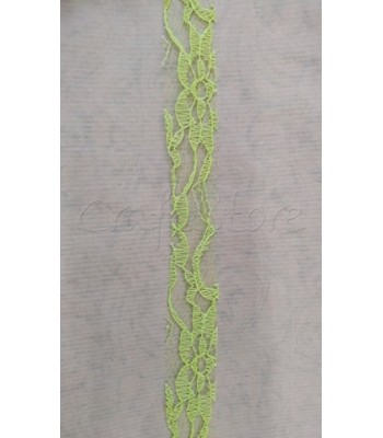 Κορδέλα Δαντέλα 2.5cm Λαχανί/ μέτρο