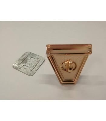 Στριφτό Κούμπωμα Τριγωνικό Ροζ Χρυσό 4.5x5cm