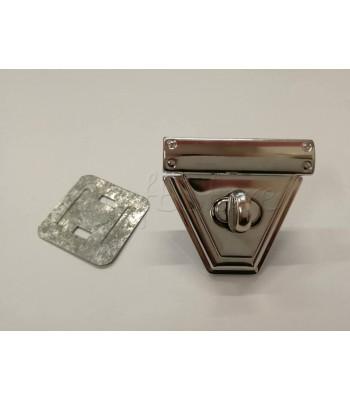 Στριφτό Κούμπωμα Τριγωνικό Νίκελ 4.5x5cm