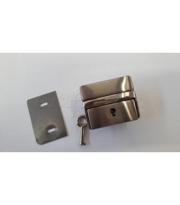 Μεταλλικό Κούμπωμα Τσάντας Κλειδαριά 4x5εκ. Νίκελ
