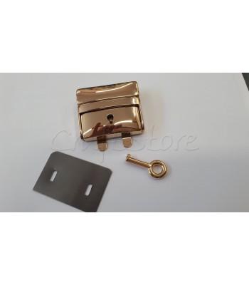 Μεταλλικό Κούμπωμα Τσάντας Κλειδαριά 4x5εκ. Χρυσό