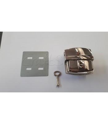 Μεταλλικό Κούμπωμα Τσάντας Κλειδαριά 5x5εκ. Νίκελ