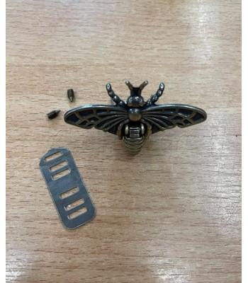 Μεταλλικό Διακοσμητικό Κούμπωμα Πεταλούδα Μπρονζέ 5x3.5cm