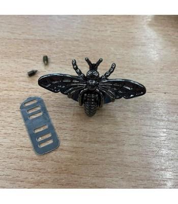Μεταλλικό Διακοσμητικό Κούμπωμα Πεταλούδα Μαύρο Νίκελ 5x3.5cm