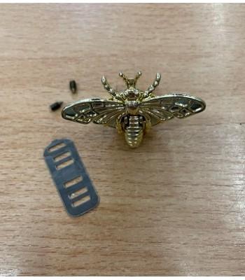 Μεταλλικό Διακοσμητικό Κούμπωμα Πεταλούδα Χρυσό 5x3.5cm