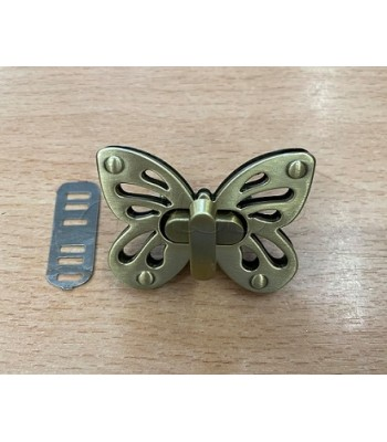 Μεταλλικό Στριφτό Κούμπωμα Πεταλούδα Μπρονζέ 5x3.5cm
