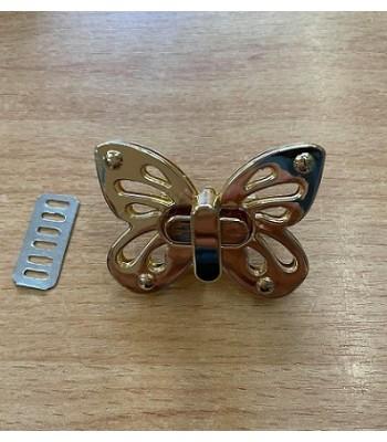 Μεταλλικό Στριφτό Κούμπωμα Πεταλούδα Χρυσό 5x3.5cm