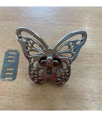 Μεταλλικό Στριφτό Κούμπωμα Πεταλούδα Νίκελ 5x4cm