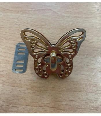 Μεταλλικό Στριφτό Κούμπωμα Πεταλούδα Χρυσό 5x4cm