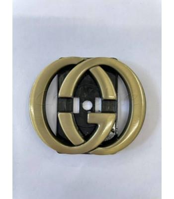 Μεταλλικοί Διακοσμητικοί Κύκλοι Κούμπωμα Μπρονζέ 5x4.2cm