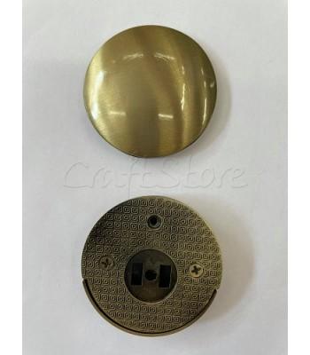 Μεταλλικό Στρογγυλό Κούμπωμα Μπρονζέ 5cm