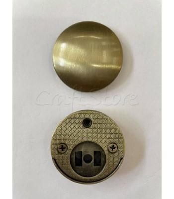Μεταλλικό Στρογγυλό Κούμπωμα Μπρονζέ 4cm