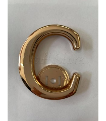 Μεταλλικό Διακοσμητικό Κούμπωμα C Χρυσό 4,5εκ. X 5,3εκ.