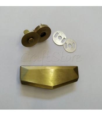 Μεταλλικό Μπρονζέ Διακοσμητικό Κούμπωμα 6x2.3cm